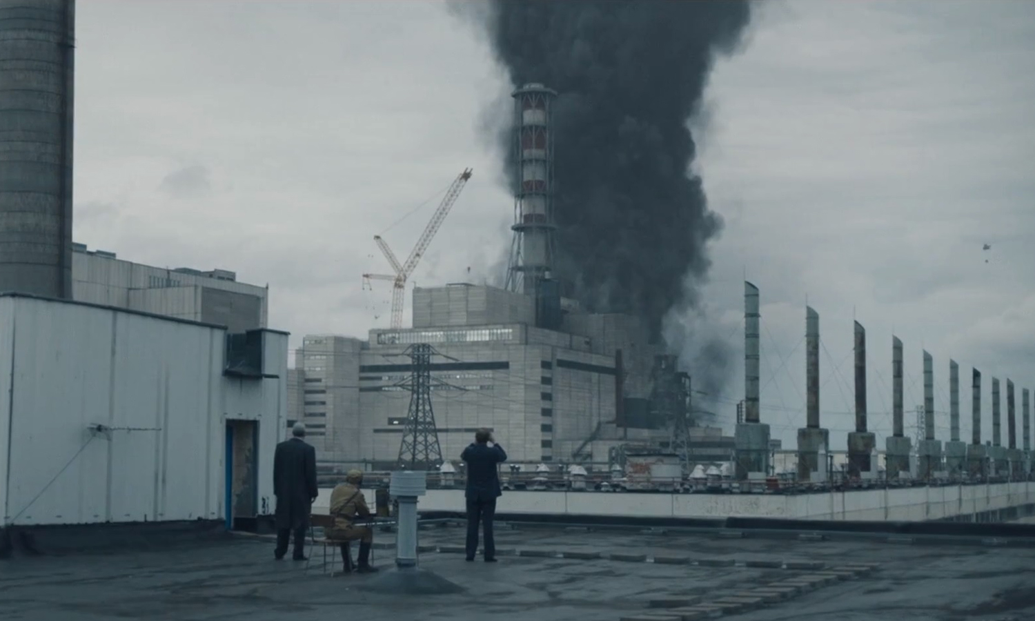 Chernobyl HBO miniseries - Burning reacor