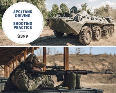Tank Driving, Shooting