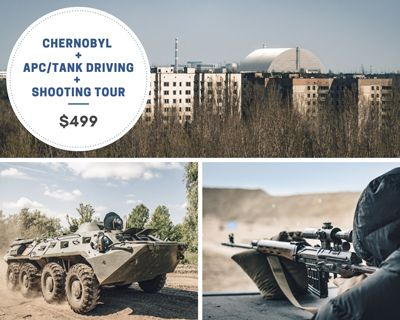 Tank Driving, Shooting, Chernobyl Tour
