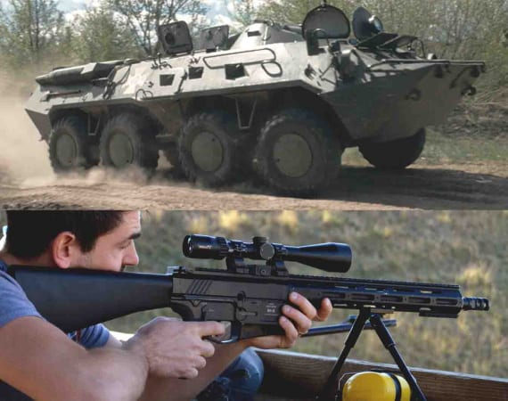 BTR-80, Shooting